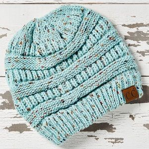 CC Mint Speckle Knit Beanie - Women NEW!